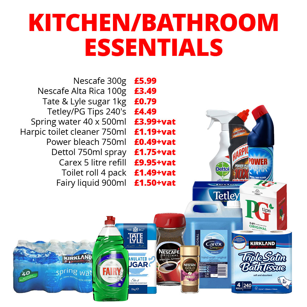 EU Kitchen & Bathroom Essentials
